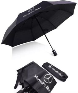 New Mercedes Car Umbrella Fully Automatic Push Button Brolly Winter Accessory