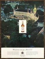 1963 Canadian Club Whisky Print Ad Wherever You Go Tivoli Gardens Copenhagen
