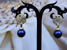 Echter Perlen-Ohrschmuck aus Gelbgold mit Clips