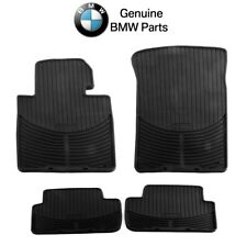 For BMW E46 3 Series Set of Front & Rear Black Rubber All Weather Floor Mats OES