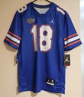 NWT Nike Air Jordan Florida Gators #18 18 Jumpman Football Game Jersey Size M