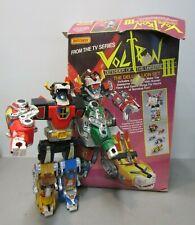 Rare Panosh Plastic Voltron Iii Transformer Go Bot Deluxe Lion Set +Matchbox Box