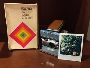 Polaroid SX-70 Land Camera w/ Original Box - Film And Flash Tested / Working