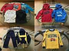 Lot of 11 Boy's Clothes Shirt Hooded Sweatshirt Outfit Suit Size 4-5 Fall/Spring