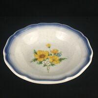 "VTG Fruit Dessert Bowl 7.25"" Mikasa Country Club Amy Yellow Floral CA503 Japan"