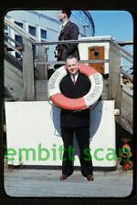 Original Slide, Aboard the Cunard Line Ocean Liner RMS Queen Elizabeth 1947, D