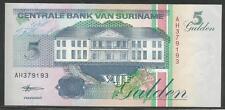Suriname P-136b 5 Gulden 1998 Unc
