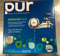 PUR WATER FILTRATION SYSTEM MINERAL CLEAR FM-9500B NOB with 2 filters