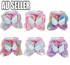 Rainbow Unicorn Wings Jojo Siwa Bows Girls Fashion Hair Accessories Party Gift
