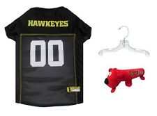 NCAA Official Iowa Hawkeyes Mesh Pet Jersey with Hanger and Football Toy, Large