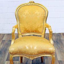 BAROCKSTUHL gold-gelb NEU SITZMÖBEL ANTIK gold BAROCK MÖBEL MASSIV BAROCK SESSEL