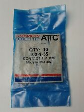 AMERICAN TORCH TIP Contact Tip,Wire Size 0.035,PK10, 403-1-35