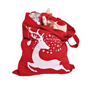 Weihnachtsbeutel Elch Geschenkverpackung Geschenkbeutel Nikolausbeutel Tasche