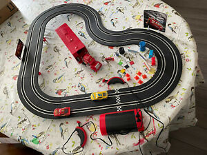 DISNEY PIXAR CARS RACING TRACK CARRERA FIRST SCALEXTRIC With Cars & Extras