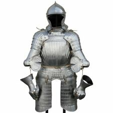 18GA Steel Medieval Richly fluted renaissance armor Half Body Armor Suit