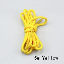 Round Coloured Shoe Laces Shoelaces Bootlaces 4mm Wide-4 Lengths 31 Colours