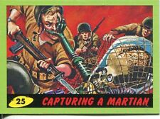 Mars Attacks Heritage Green Parallel Base Card #25    Capturing a Martian