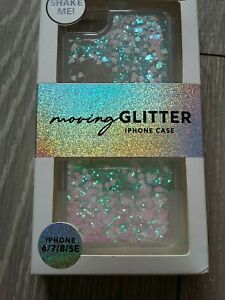 Phone Case For iPhone SE/ 6 /7 /8 clear sparkle moving