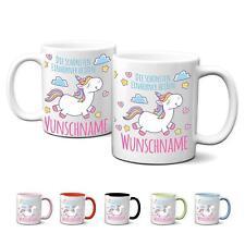 Tasse mit Name Kaffeebecher Einhorn  Namenstasse Geburtstag Geschenk Kaffeetasse