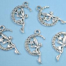 20 Pcs - Tibetan Silver Dainty Angel Fairy Charm Jewellery Pendant Xmas
