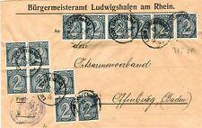 Dienstmarken aus dem deutschen Reich mit Mehrfachfrankatur