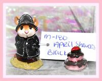 ❤️Wee Forest Folk M-180 April Showers Black Rain Coat Hat Retired WFF 1991❤️