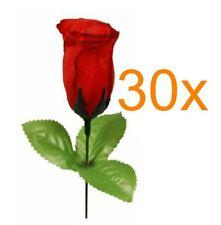 30 x Rote Rose, Kunstblume, Heckenrose, Bauchladen, JGA, Junggesellenabschied