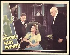 "INVISIBLE MAN'S REVENGE -1944 - UNIVERSAL CLASS HORROR - Orig. 11x14"" Lobby Card"