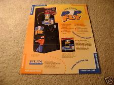 FUN pop fly video arcade flyer