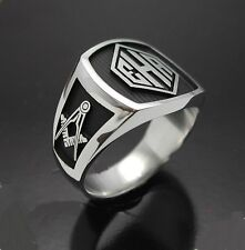 STERLING SILVER MASONIC MONOGRAMMED RING STYLE 010M
