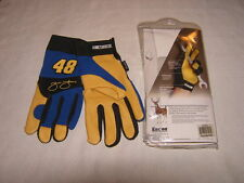 JIMMIE JOHNSON #48 Deerskin Mechanics Gloves NASCAR Size LG NIP