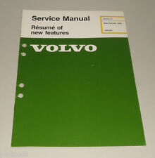 Service Manual Volvo 340 / 360 New Car Features Baujahr 1986