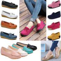 Women's Slip On Loafers Casual Boat Round Toe Moccasins Office Flat Heel Shoes