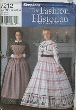 Simplicity Sewing Pattern Dress Apron Victorian 14-20 LARP Cosplay Costume 7212