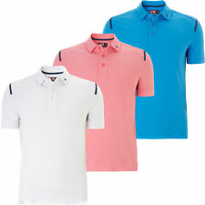 Cotton Blend Polo Stretch Casual Shirts & Tops for Men