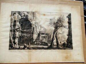 1760 Original Giovanni Battista Piranesi Etching Veduta Dell Arco di Tito