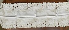 """2 Vintage Table Runners - one measures 48"""" x 16 and the other measures32"""" X 16""""."""