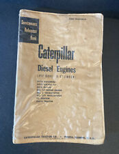 Vintage Caterpillar Diesel Engines 4 12 6 Cyl Servicemens Reference Book