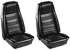 1970 FORD MUSTANG COUPE STANDARD BLACK FRONT BUCKET & REAR SEAT COVERS #068700