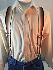 "New, Men's, Brown Hombre, Lg, 42"", Adj. Side Clip Suspenders/Braces, Made in USA"