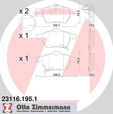 Bremsbelagsatz Scheibenbremse - Zimmermann 23116.195.1
