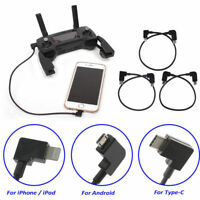 Micro USB Data Cable Line for DJI SPARK/MAVIC PRO Controller Mobile Phone Tablet