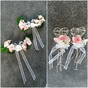 Flower Girl/Bridesmaid Flower Hoops 2 x 20cm + 2 beautiful wands any combination
