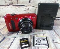 Fujifilm FinePix F Series F660EXR 16.0 MP Digital Camera - Red