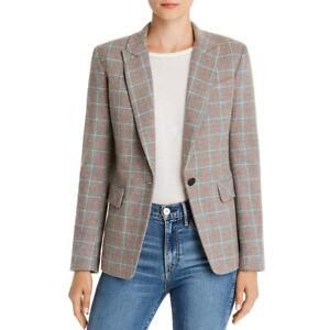Rag & Bone Womens Rylie Wool Plaid One-Button Blazer Jacket BHFO 6161