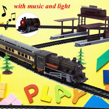 Large Electric Classic Train RAIL Vehicle Kids Toy Set Track Operated Carriages