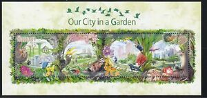 SINGAPORE 2013 OUR CITY IN A GARDEN STAMP SOUVENIR SHEET OF $5 HIGH VALUE STAMP