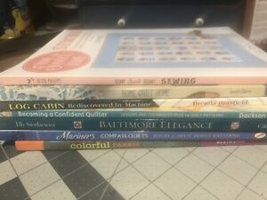A Lot of 7 Great Quilt Books  -  all new copies