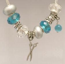 Set of 10 Beads Dangle Charm For European Bracelet Necklace Free Gift Bag #09
