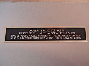 John Smoltz Braves Autograph Nameplate for a Baseball Jersey Case 1.5 X 6